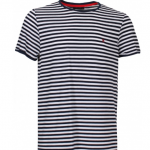 Tshirt Riscas Azuis Homem