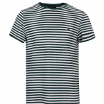 Tshirt Riscas Verdes Homem