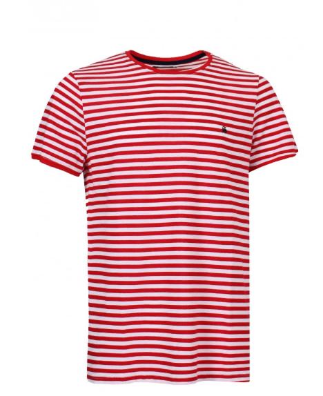 Tshirt Riscas Vermelhas Homem