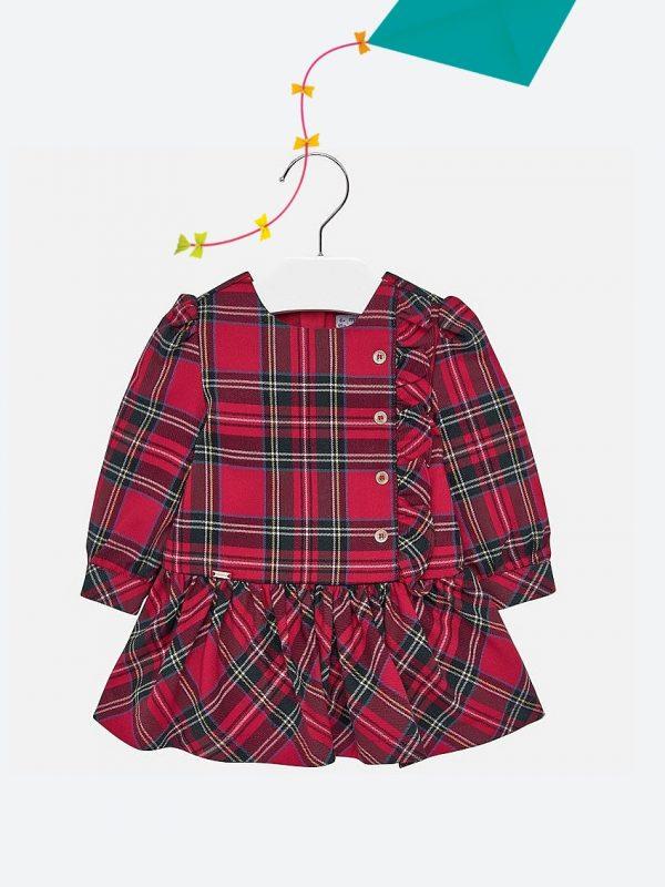 Vestido De Bebé Aos Quadrados Mayoral2926