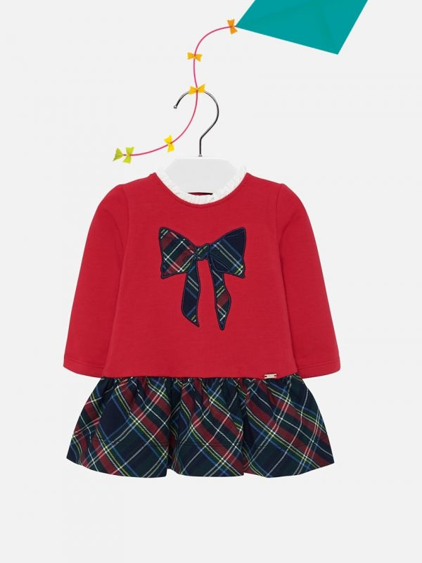Vestido De Bebé Vermelho Mayoral
