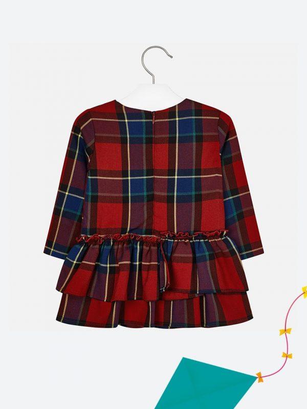 Vestido Para Criança, Quadrados Mayoral Vermelho2