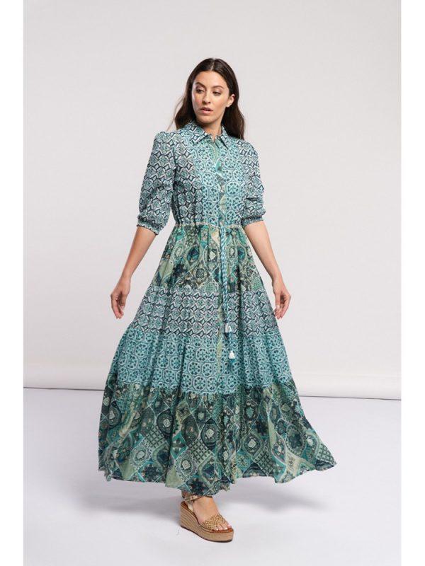 vestido verde manga 1